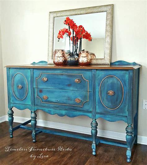 blended blue buffet diy furniture makeovers