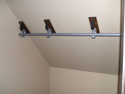 Tiny Closet Organizers by Tremendous Closet Rod Bracket For Sloped Ceiling