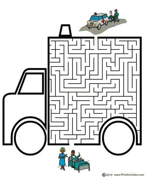 printable car maze 17 best images about ziek zijn werkbladen on pinterest