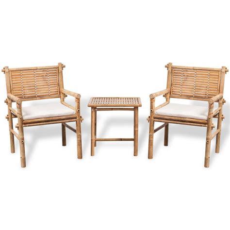 Vidaxl Co Uk Vidaxl Five Piece Garden Furniture Set Bamboo Bamboo Patio Furniture