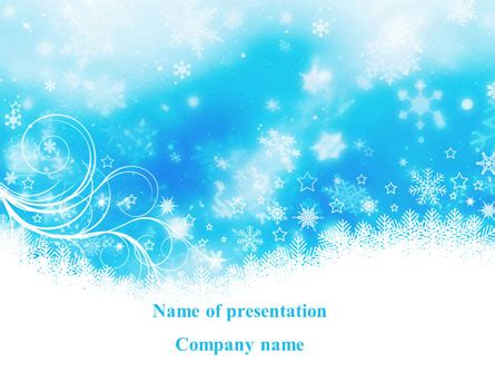 powerpoint templates for january snowflakes powerpoint template january powerpoint