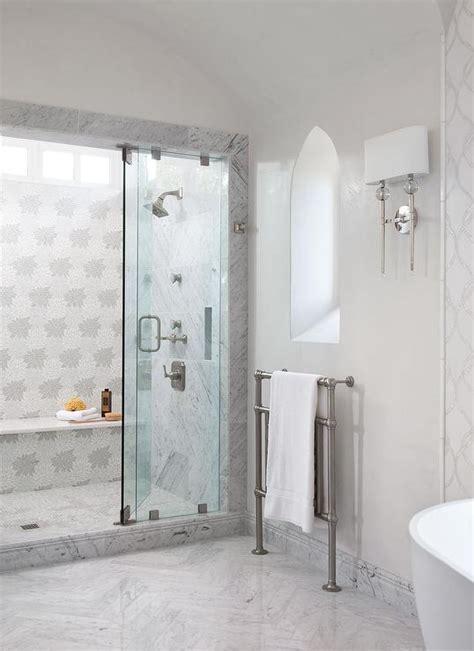 Master Bathroom with Moorish Style Window   Transitional