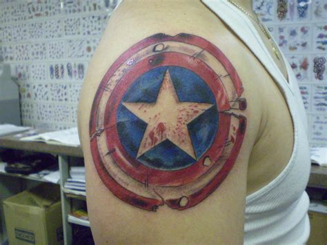 sheild tattoo captain america top 15 designs of the american