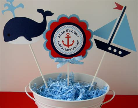 Baby Shower Sailor by 3 Nautical Baby Shower Centerpiece Sticks By