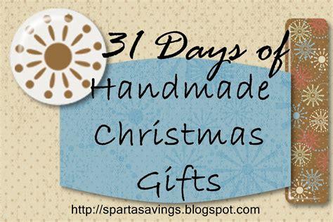 sparta savings 31 days of handmade christmas gifts day