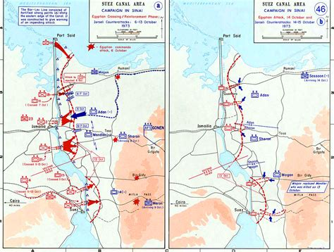 libro maps of war map of the suez canal area october 1973