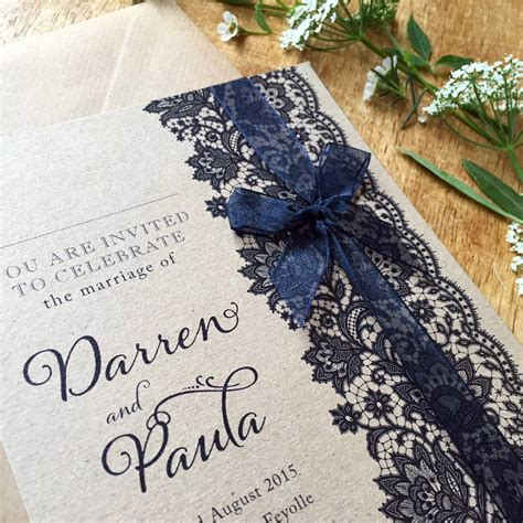 not on the high lace wedding invitations vintage lace wedding stationery range by tigerlily wedding stationery notonthehighstreet