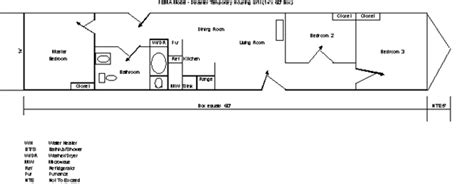fema trailer floor plan fema house plans house design plans