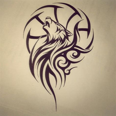 28 striking tribal tattoos for the wolf