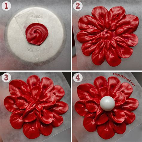 How To Make An Easy Flower Out Of Paper - easy stunning dimensional icing flowers