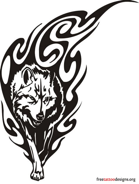 tribal car tattoo black tribal wolf design