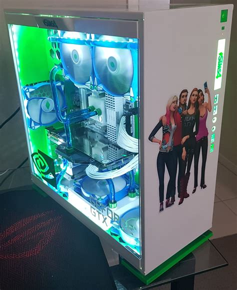 coolest pc rigs check out this custom built sims 4 themed gaming pc simsvip