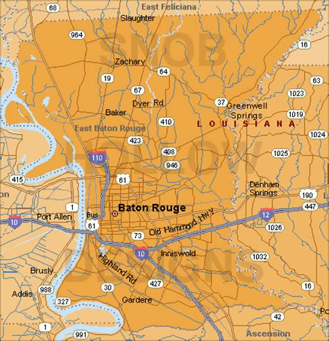 baton map maps east baton par lagenweb