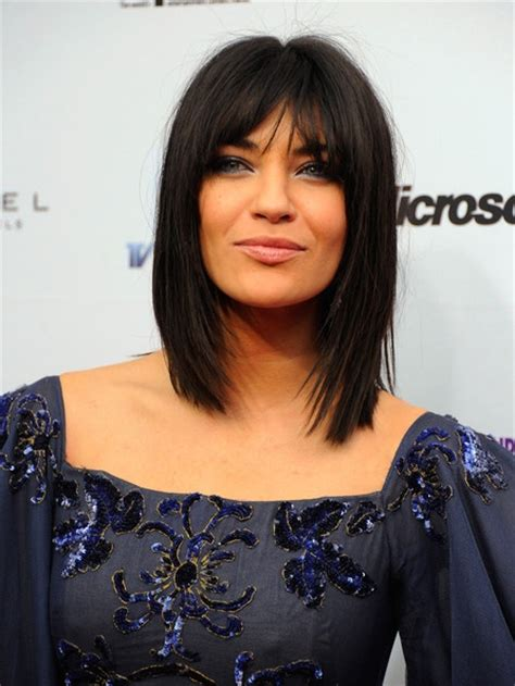 lob cut with bangs lob haircut w bangs hair pinterest lob haircut