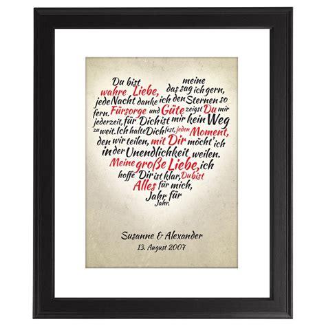 Hochzeit 1 Jahrestag by Dein Gerahmtes Herz Aus Worten Jetzt Bei Danato Kaufen