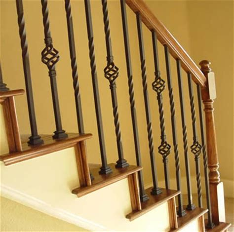 banister spindles iron balusters iron spindles metal stair parts basket twist scroll satin black ebay