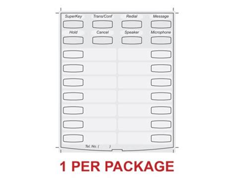 Mitel 4025 Phone Label Template