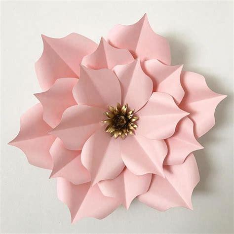 Paper Template For Flowers | pdf petal 5 paper flower template digital version