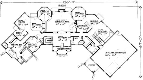 8 bedroom floor plans european style house plan 8 beds 4 50 baths 3913 sq ft