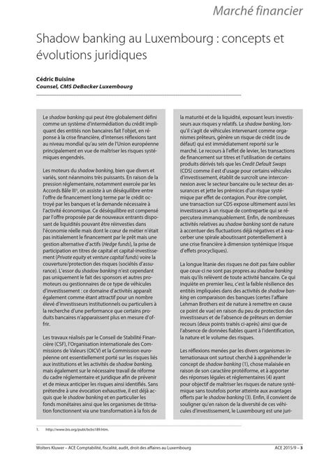 Article shadow banking au luxembourg concepts et