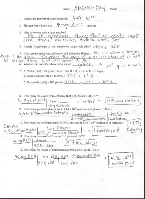Solubility Worksheet Answers Chemistry If8766 by Molarity Lab Murder Investigation Key Pdf