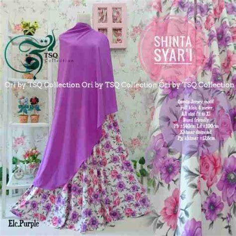 Gamis Humairah Syari Khimar Crepe Motif Bunga Flower Busui Wudhu gamis cantik shinta syar i motif bunga baju muslim terbaru