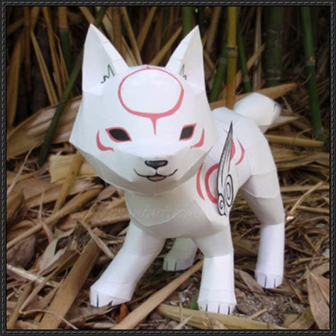 Amaterasu Papercraft - papercraftsquare new paper model okami chibi