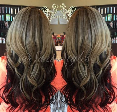 reverse ombre hair color for brunettes 290 best images about hair color on pinterest