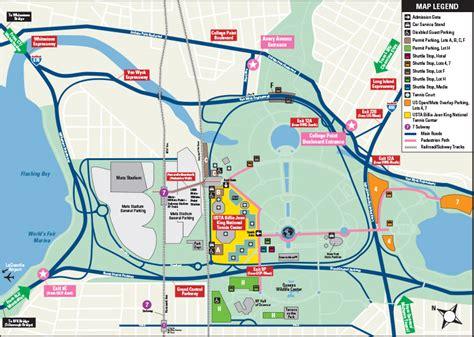 us open tennis map lirr willets point schedule us open