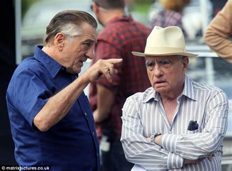 i heard you paint houses movie de niro and al pacino shoot scenes for first joint martin scorsese movie the irishman