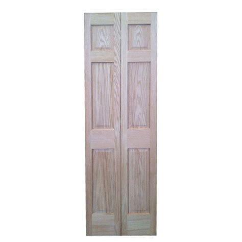 bi fold doors interior pacific mills 30 in x 80 in 6 panel hollow oak interior closet bi fold door 6p ro bf30