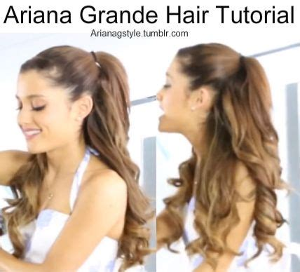 whats up with grandes hair ariana grande half up half down hair tutorials