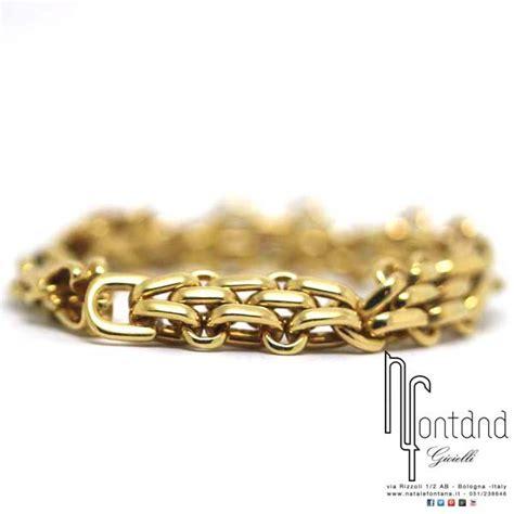bracciale pomellato pomellato bracciale in oro giallo con maglia a piccoli