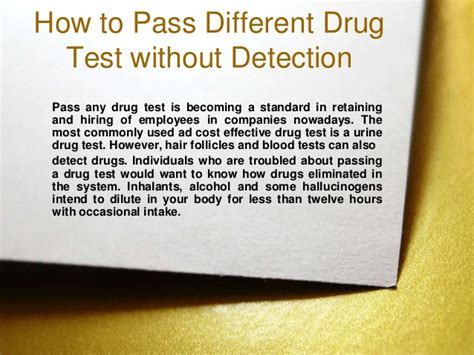 How To Pass A Test Without Detox how to pass different test without detection