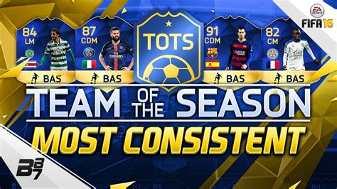 Must Of The Season by Team Of The Season Tots Most Consistent Fifa 16