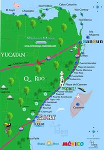 Riviera Maya Mexico Map by Cancun Amp Riviera Maya Pictures To Pin On Pinterest