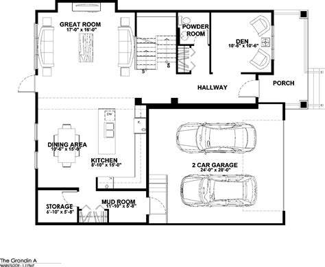 main floor plans grandin a explorer discovery homes