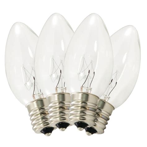 replacement c9 stringlight bulbs transparent clear twinkling