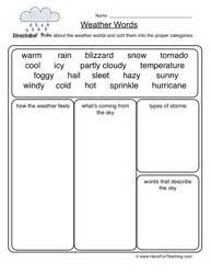 16 best images of first grade weather worksheets free