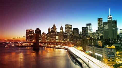 manhattan night in new york city 4k wallpapers new york city manhattan bridge wallpapers hd wallpapers