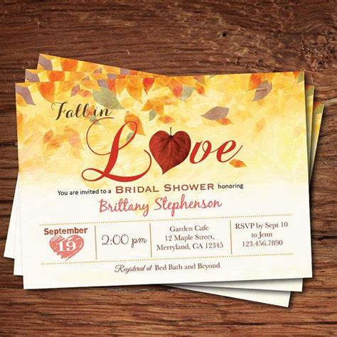 Fall Bridal Shower by Fall Bridal Shower Invitation Fall In Bridal Shower