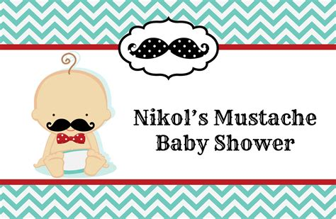 Mustache Baby Shower by Mustache Baby Shower Place Mats