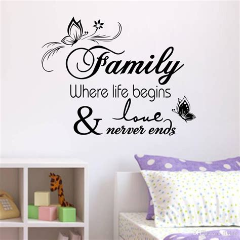 home decor sticker family vinyl wall quote decal stickers for home decor wall