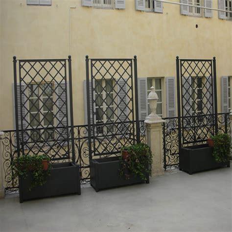 grigliato giardino grigliato in ferro con fioriera per esterno