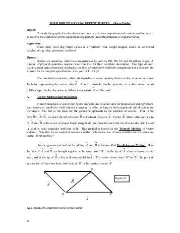 force table lab report sle lab report the force table physics 221 section