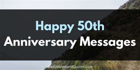 Lovely Messages for 50th Anniversary (Original Text)