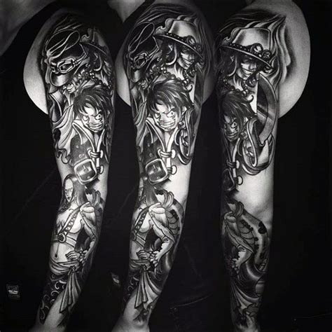 tattoo arm piece designs 70 one piece tattoo designs for men japanese anime ink ideas