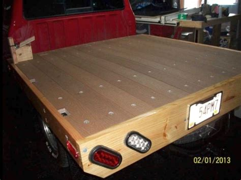 diy wood truck bed honcho wooden truck bed build
