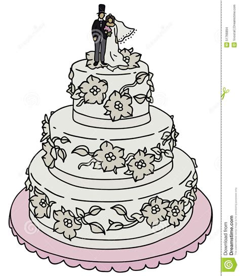 Hochzeitstorte Zeichnung by Wedding Cake Pencil And In Color Wedding Cake