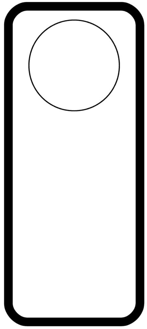 door hangers template door hanger templates